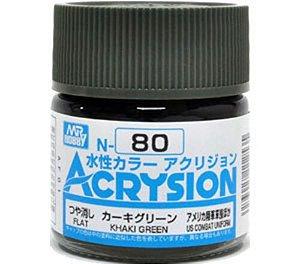 Gunze - Acrysion  N080 - Khaki Green (Flat)