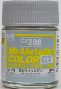 Gunze - Mr.Metallic Color GX208 - Rough Silver (Metallic)