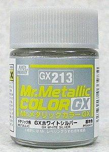 Gunze - Mr.Metallic Color GX213 - White Silver (Metallic)