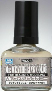 Gunze - Mr. Weathering Color WC04 - Sundy Wash (Wash com base Óleo) - 40ml