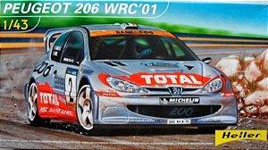 HELLER - PEUGEOT 206 WRC'01 1/43 (SUCATA)