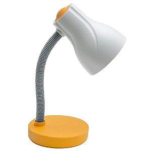 Luminária de Mesa Escritório Spiralle Amarelo - Startec