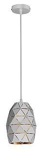 Lustre/Pendente Oval Faces Branco Moderno Industrial - Startec