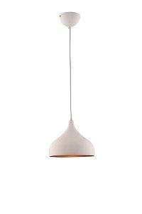Lustre/Pendente Mini Gota Branco c/ Cobre E27- Estilo Industrial Moderno