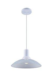 Lustre/Pendente Chapéu em Vidro Ice Branco 30 cm Design Moderno - Startec
