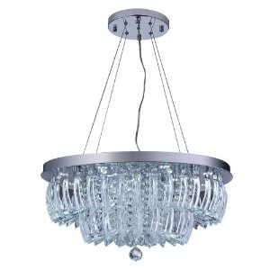 Lustre/Pendente de Cristal Legítimo LED Ingrid 36W 3000K Startec - Design Moderno Quarto/Sala Jantar