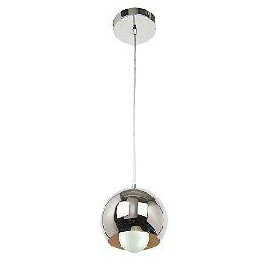 Lustre/Pendente em Aço Orbit Cromado 1xE27 Design Moderno - Startec