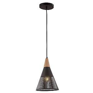 Lustre/Pendente Alumínio RPX Brise Preto - Design Moderno Industrial Quarto/Sala/Cozinha - Startec