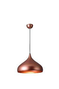 Lustre/Pendente Gota Alumínio RPX Cobre 30cm Design Moderno - Startec