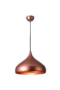 Lustre/Pendente Gota Alumínio RPX Cobre 40cm Design Moderno - Startec