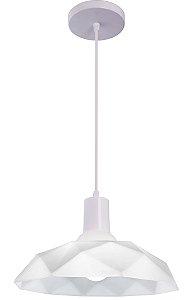 Lustre/Pendente Sides M3 Branco c/ Copo Branco - Startec