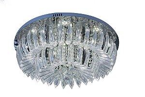 Plafon Sobrepor LED Redondo Cristal Ingrid 60cm 36W 6500K