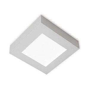 Luminária/Plafon Sobrepor LED Quadra 24W 3000K - Startec