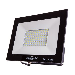 Refletor Holofote LED Preto 100W 6500K Branco Frio Bivolt a Prova D´água - Startec