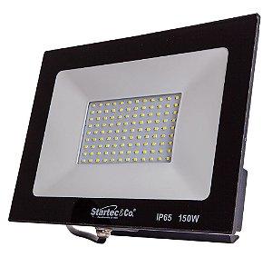 Refletor Holofote LED Preto 150W 6500K Branco Frio Bivolt Prova D´Água - Startec