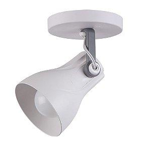 Spot Sobrepor Direcionável Octa Plus Branco/Cinza - Design Moderno Quarto/Sala - 1xE27 Bivolt - Startec