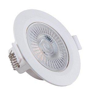 Spot de Embutir LED Redondo PP 5W 4000K Luminária Teto/Gesso - Startec