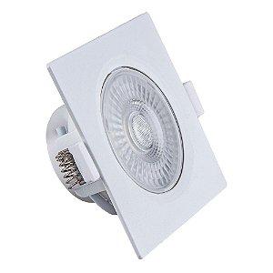Spot de Embutir LED Quadrado PP 7W 3000K - Startec