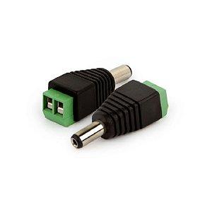 Kit C/10 Conector Plug P4 Macho com Borner