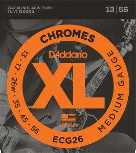 ENCORDOAMENTO D´ADDARIO 013 GUITARRA CHROMES FLAT WOUND ECG26