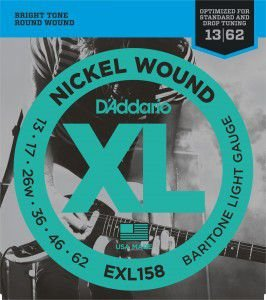 ENCORDOAMENTO D´ADDARIO 013 GUITARRA NICKEL WOUND EXL158