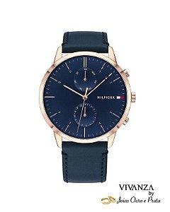 Relógio Tommy Hilfiger Masculino Couro Azul (unidade)