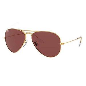 Óculos Ray-Ban Aviator Classic ouro violeta RB3028