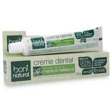 Creme Dental sem Fluor Menta/Melaleuca Boni Natural - 90g