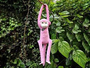 Pelúcia Macaca Aranha Rosa