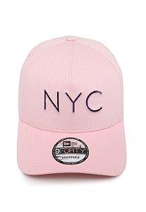 Boné NEW ERA NYC Rosa - AJUSTÁVEL