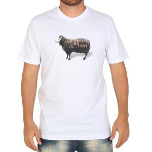 Camiseta Lost Follow Me Sheep - Branca
