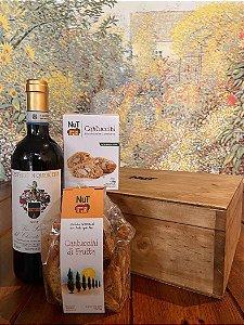 Caixa Vinho com Cantuccini (Dia dos Pais)