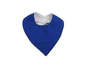 Babador Bandana Atoalhado - Azul Royal