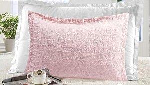 Porta Travesseiro Gigante com 4 Abas Moderno Realce - Rose Cristal - Sultan