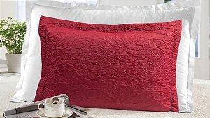 Porta Travesseiro Gigante com 4 Abas Moderno Realce - Vermelho - Sultan
