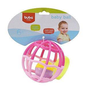 BABY BALL ROSA LUZ E SOM BUBA 6M+