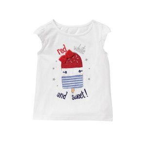 BLUSA RED WHITE GYMBOREE