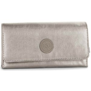CARTEIRA BROWNIE DOURADA METALICA KIPLING
