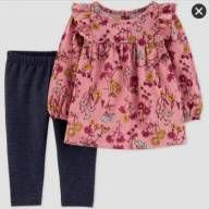 CONJUNTO 2 PEÇAS FLORAL JUST ONE YOU BY CARTER'S