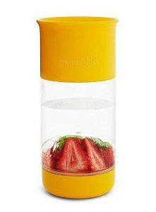 Copo Infusor De Frutas 360° 414ml Amarelo Munchkin