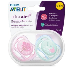 KIT CHUPETA ULTRA AIR 0-6M AVENT