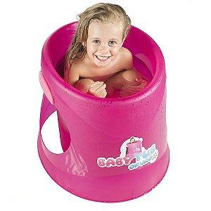 BANHEIRA INFANTIL OFURÔ FLUOR PINK BABY TUB