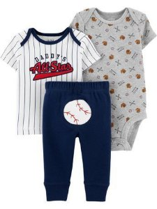 CONJUNTO BASEBALL DADDY CHILD OF MINE BY CARTER'S