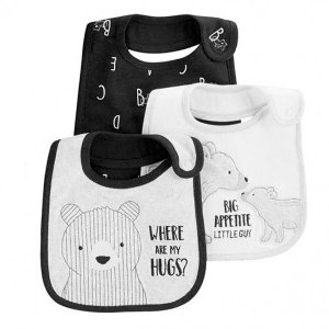 KIT 3 BABADORES DE ALGODÃO URSO CHILD OF MINE BY CARTER'S