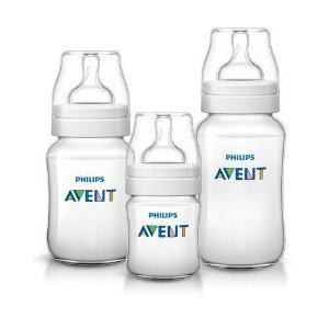 Kit 3 Mamadeiras Anti Cólica 0m+ 125Ml/ 1m+ 260Ml/ 6m+ 330Ml Philips Avent
