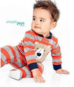 MACACÃO FLEECE URSO SIMPLE JOYS BY CARTER'S