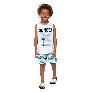 Camiseta Branca Sunset Milon