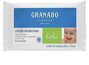 LENÇO UMEDECIDOS PELES SENSÍVEIS C/50 GRANADO