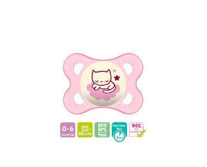 CHUPETA NIGHT ROSA 0-6M MAM