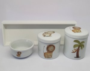 KIT HIGIENE PORCELANA SAFARI